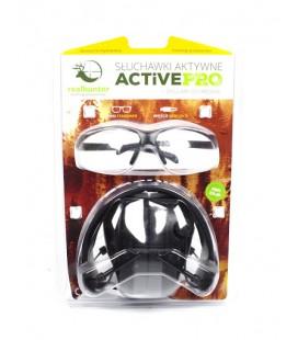 Słuchawki ochronne Realhunter Active Pro+okulary